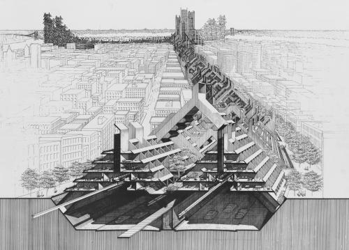 Paul Rudolph's Lower Manhattan Expressway drawings.