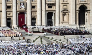 St Peter's Square during Mother Teresa's canonisation