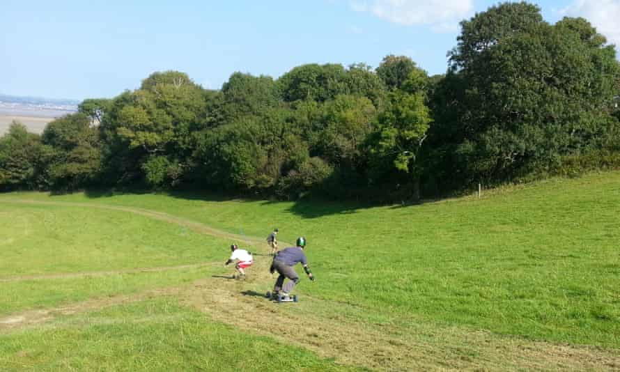 Mountain boarding in the Gower Peninsula with BRD Sports