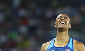Ashton Eaton crossed the finish line in first place in the 1500m, the final event.