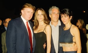 Donald and Melania Trump, then Knauss, with Epstein and Maxwell at Mar-a-Lago in 2000.
