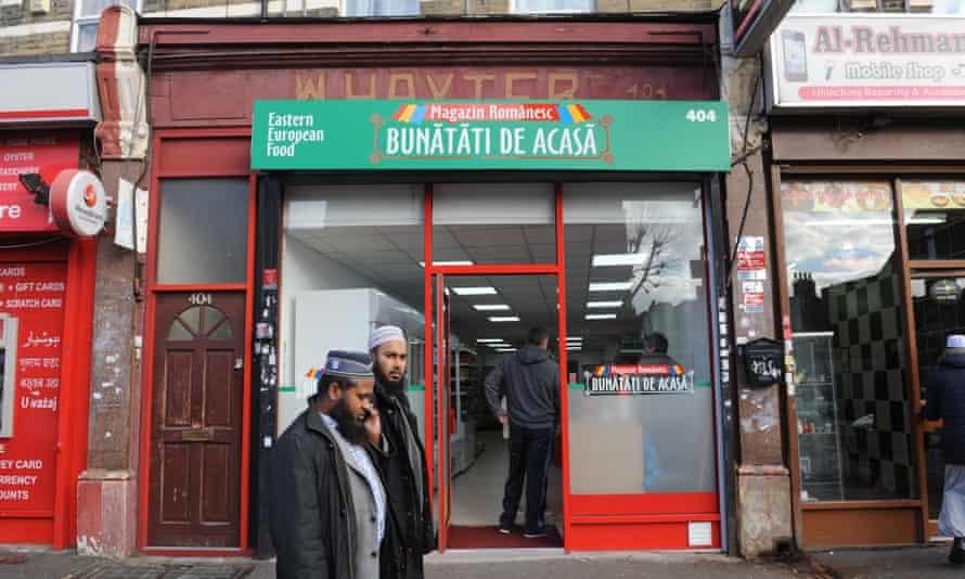 A specialist Romanian shop in East Ham, east London.