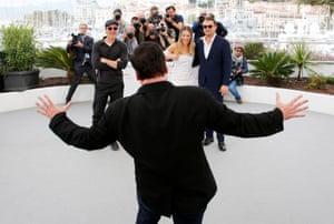 Quentin Tarantino makes Brad Pitt, Margot Robbie and Leonardo DiCaprio laugh in Cannes, France