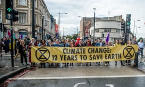 An Extinction Rebellion protest in Camden, London, earlier this month