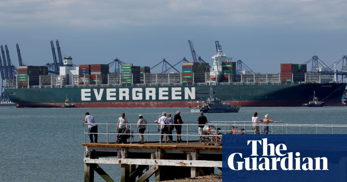 Ship that blocked the Suez canal docks in UK – four months late