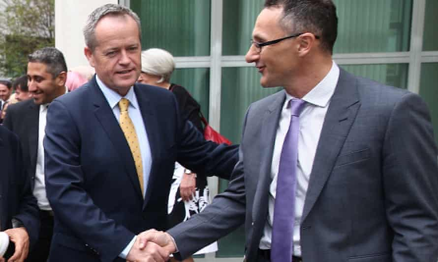 Bill Shorten says Richard Di Natale ' is looking for relevance at the moment', and rules out a joint Labor/Greens climate policy.