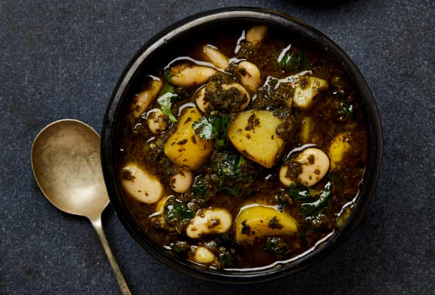 Yotam Ottolenghi's Bkeila, Potato and Bean Stew with Butter.