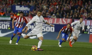 5901bcc50aa2a Cristiano Ronaldo hat-trick seals derby as Real Madrid beat Atlético ...