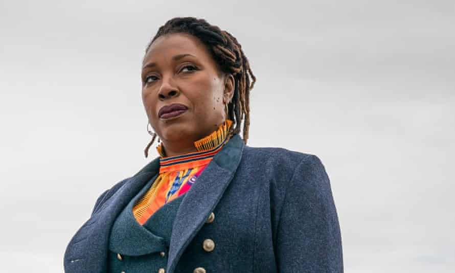 Making history ... Jo Martin as the Doctor.