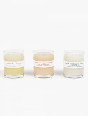 Candles (box of three), £45 apc.fr