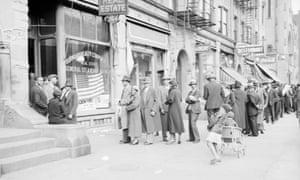 Black voters in Harlem, New York in 1926.