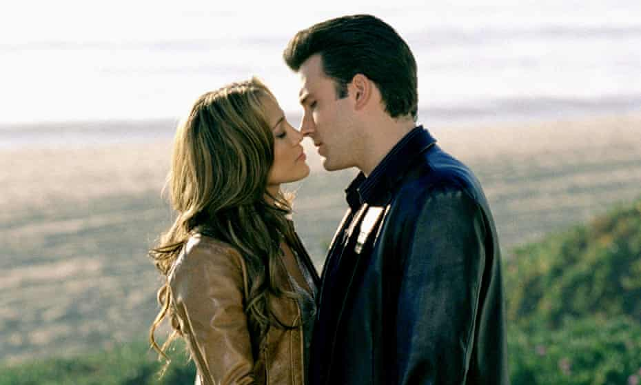 A larger-than-life love … Lopez and Affleck in 2003's Gigli.