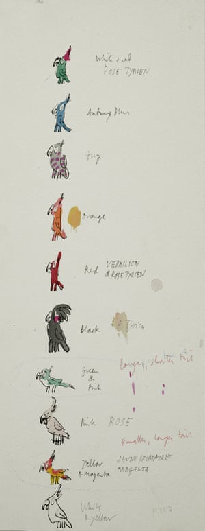 As well as showing original versions of completed works, the exhibition gives a glimpse into Blake's working process, via initial notes and sketches