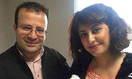 British-Iranian academic Kameel Ahmad with his wife Shafaq Rahmani. Ahmad was detained in Iran on Sunday.