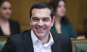 The Greek prime minister, Alexis Tsipras