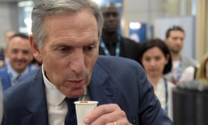 Howard Schultz in Milan, Italy, on 7 May 2018.