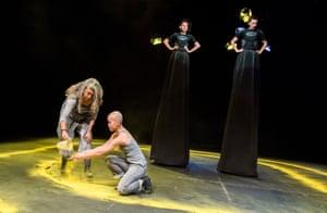 Witch hunt … Lesley Ewen, Kailing Fu, Rachel Mars and Nat Tarrab in Roller.
