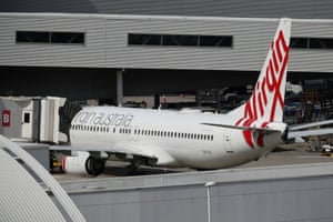 A Virgin Australia plane at Sydney airport.