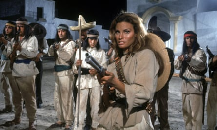 Raquel Welch as a Mexican revolutionary in 100 Rifles (1969).