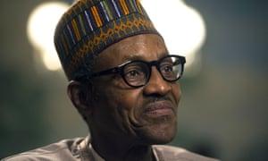 New Nigerian president Muhammadu Buhari.