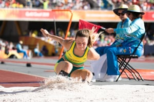 Erin Cleaver from Australia, who came in second at Carrara Stadium in the T38 long jump final