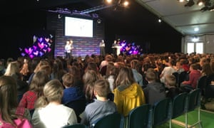 The Education Centre had large and keen secondary school audiences for its two I'm a journalist get me out of here sessions at the Hay Festival Programme for Schools in May 2019