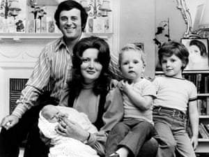 Terry Wogan and his wife Helen in 1972 with their baby daughter Katherine at three weeks old, and their sons Alan, five (right), and Mark, two