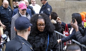 Jurors are escorted from the courthouse in Manhattan after finding Weinstein guilty of of rape and sexual assault.