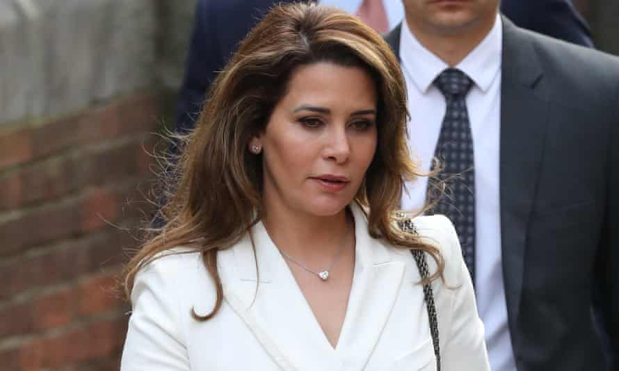 Princess Haya arriving at the Royal Courts of Justice in February.