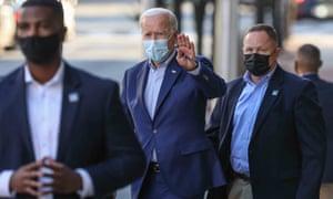 Joe Biden in Wilmington, DE, on Saturday.