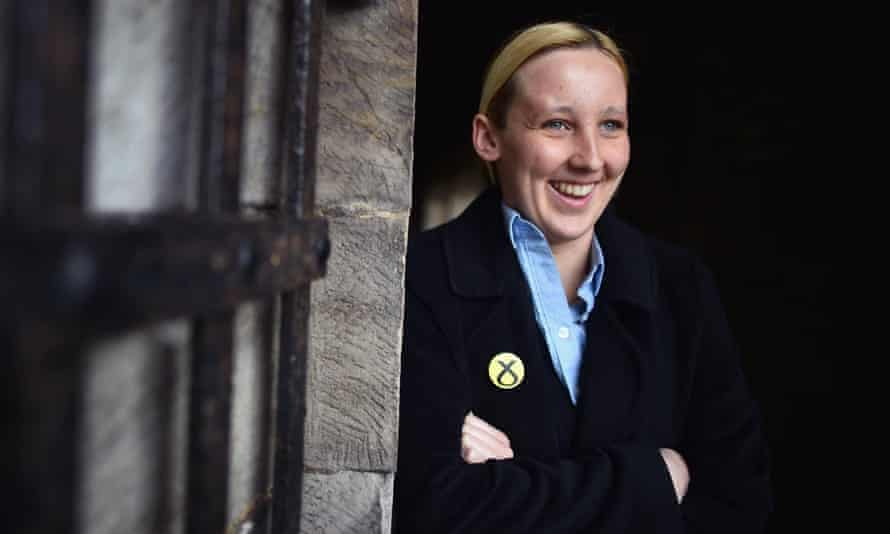 Mhairi Black, the 20-year-old who ousted Labour frontbencher Douglas Alexander.