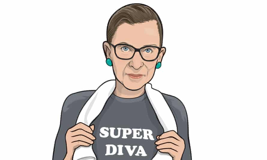 Ruth Bader Ginsburg is known to wear a 'Super Diva' sweatshirt.