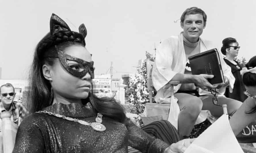 Eartha Kitt as Catwoman, and Adam West