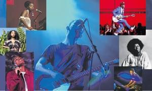 Clockwise from top left: Nina Simone, Thom Yorke, Roman GianArthur, Alice Coltrane, Robert Glasper, Arlo Parks and Lianne La Havas.