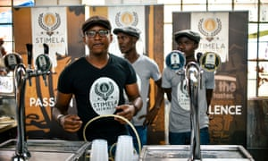 A beer stall at the Social Market