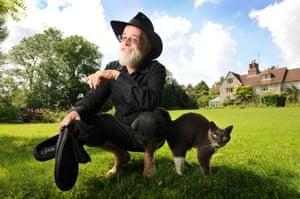 Terry Pratchett at home near Salisbury, Wiltshire in 2008.