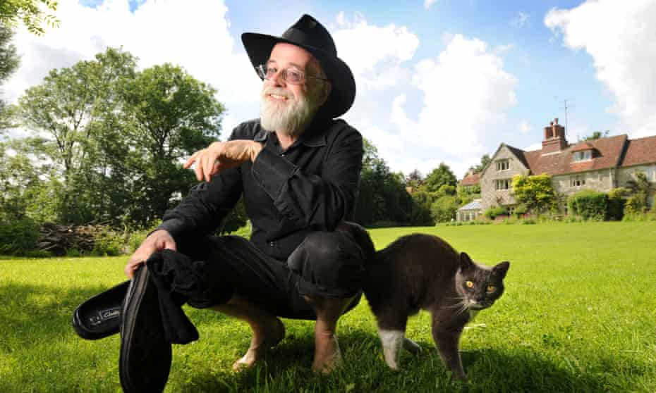 Terry Pratchett, pictured at his home near Salisbury, Wiltshire in 2008.