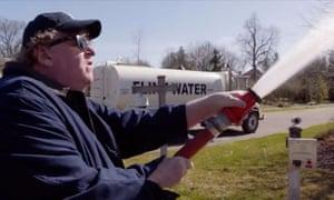 Michael Moore in Fahrenheit 11/9.