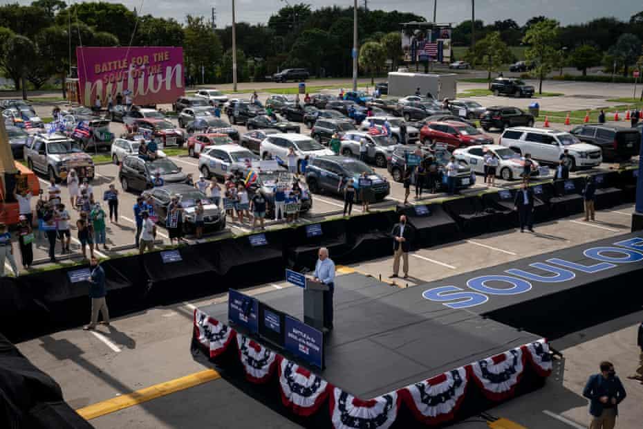 Biden speaks at a rally in Florida last week.