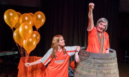 Barrel of laughs … Victoria and Mike Melody in Ugly Chief.