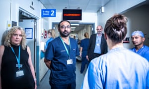 Staff at St Mary's Hospital, London, featured in BBC2's Hospital.