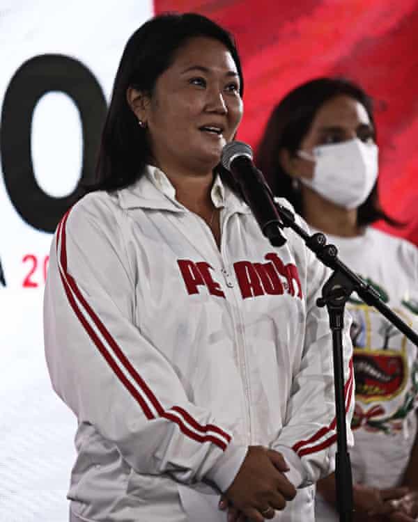 Keiko Fujimori in Lima.