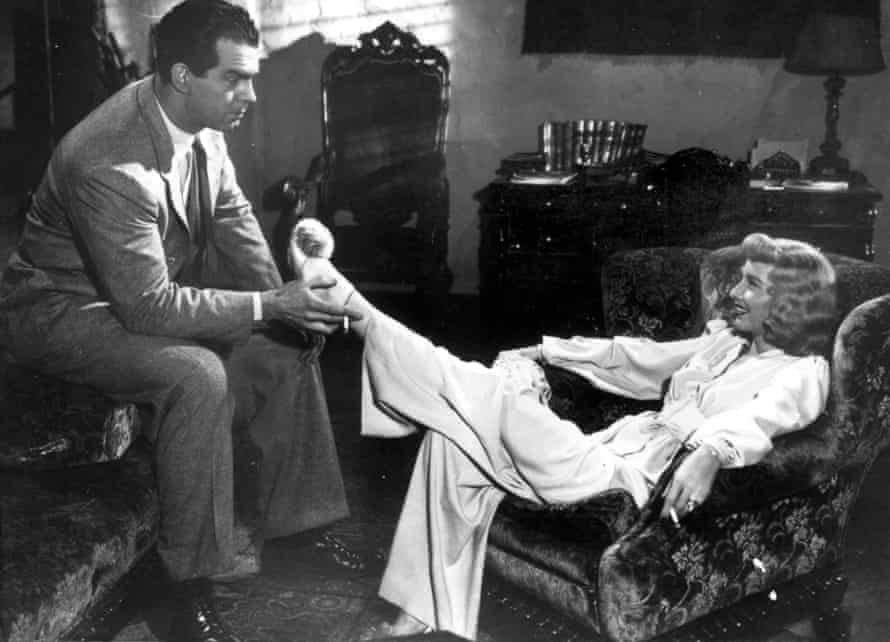 Returning to the Weimar-era expressionist visual wellspring … Double Indemnity (1944).