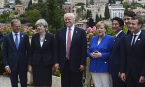Donald Trump and other G7 leaders