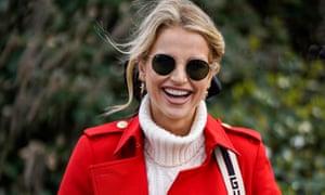 Irish model Vogue Williams arriving at Cheltenham on Wednesday.