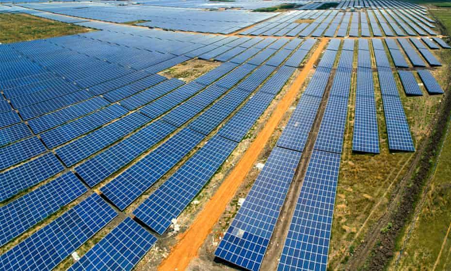 Adani Kamuthi Solar Power Plant in Tamil Nadu, South India