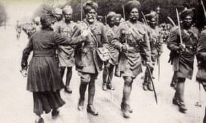 The Indian army in Paris, 1916