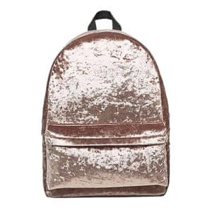 copper velvet rucksack Asos