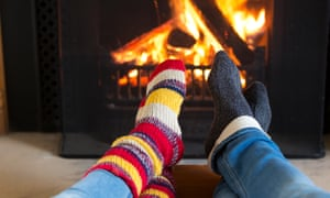 woolly socks and a roaring fire