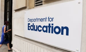 Sign outside the Department for Education in central London